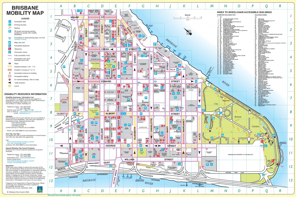 Brisbane City Center Map - Brisbane City Map Printable