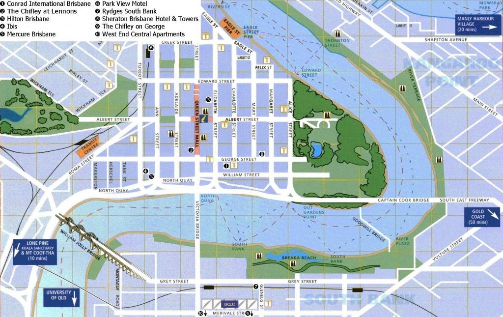 Brisbane Map Pdf | Dehazelmuis - Brisbane City Map Printable
