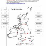British Isles Map Worksheet   Free Esl Printable Worksheets Made   Free Printable Map Worksheets