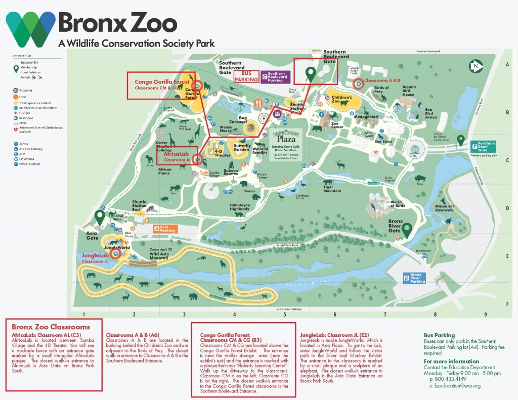 Bronx Zoo Map (95+ Images In Collection) Page 1 - Bronx Zoo Map Printable