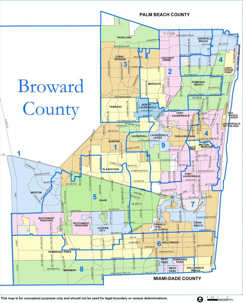 Broward County Map - Check Out The Counties Of Broward - Dania Beach Florida Map
