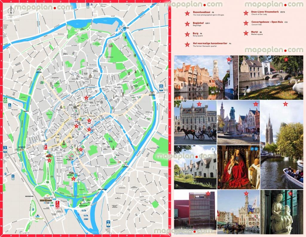 Bruges Map - Bruges City Centre Free Printable Travel Guide Download - Printable Travel Map