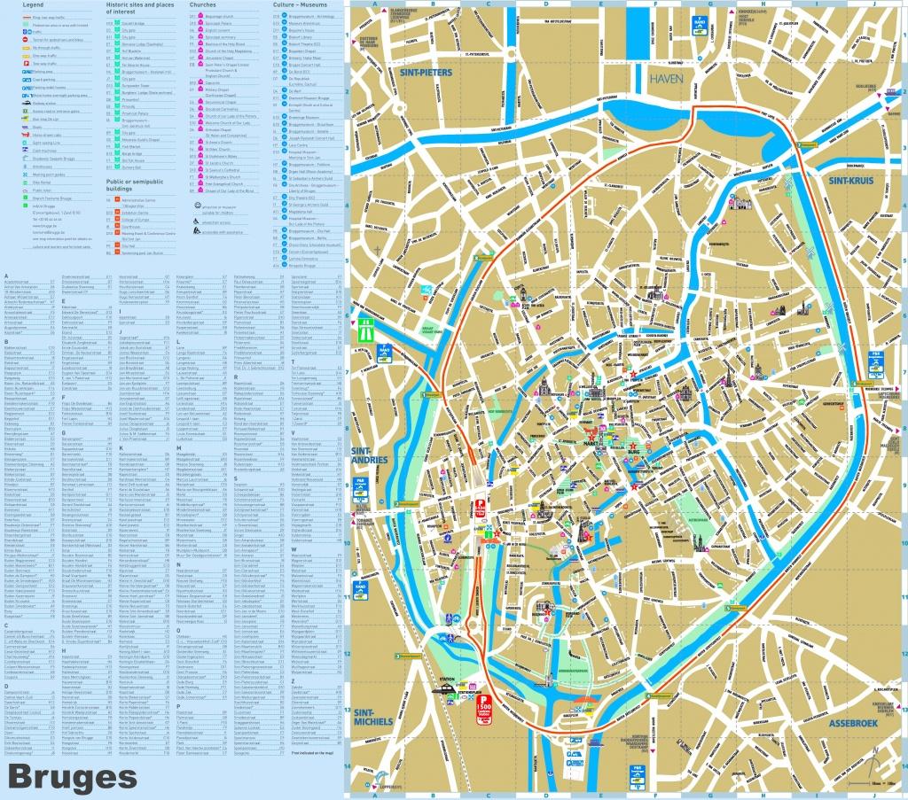 Bruges Maps | Belgium | Maps Of Bruges (Brugge) - Bruges Map Printable