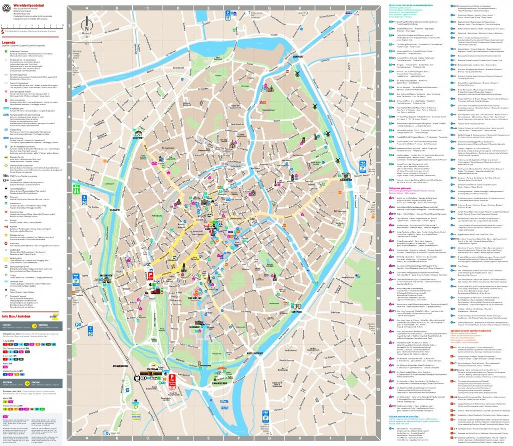 Bruges Sightseeing Map - Bruges Map Printable