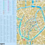 Bruges Tourist Attractions Map   Printable Street Map Of Bruges