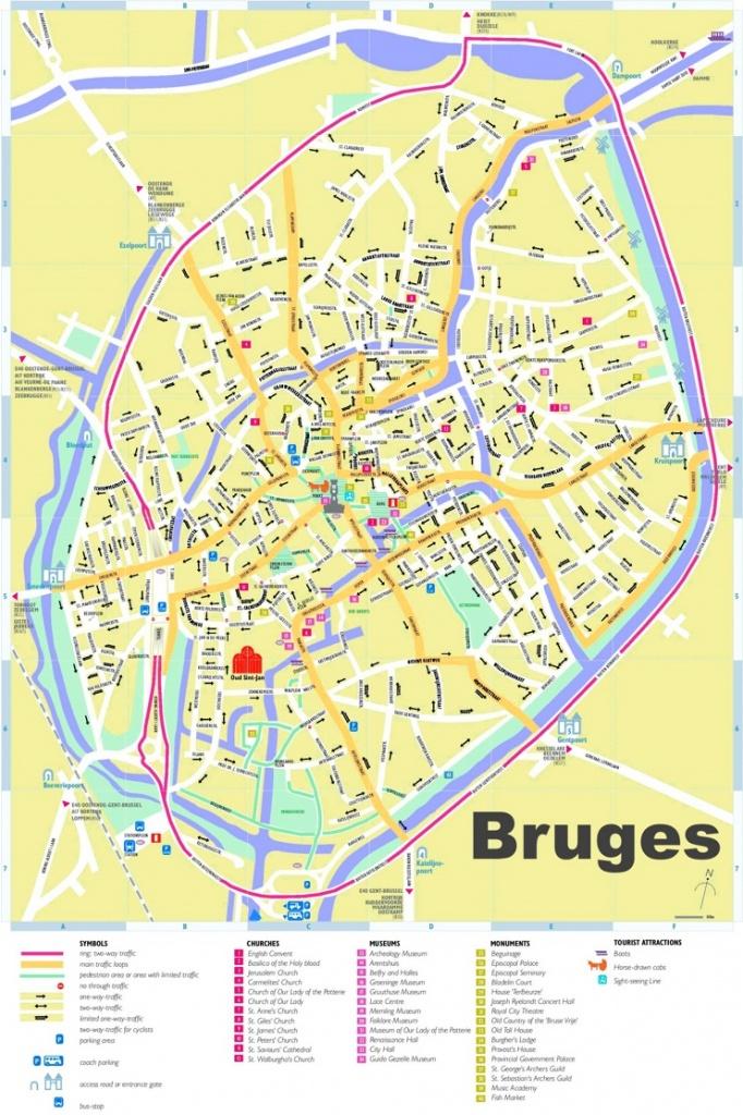 Bruges Tourist Map - Bruges Map Printable