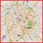 Brussels Map Print   Tourist Map Of Brussels Printable (Belgium)   Printable Map Of Brussels