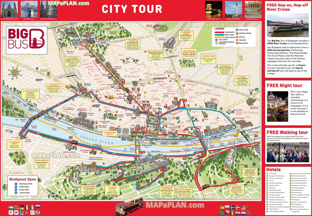 Budapest Maps - Top Tourist Attractions - Free, Printable City - Budapest Tourist Map Printable