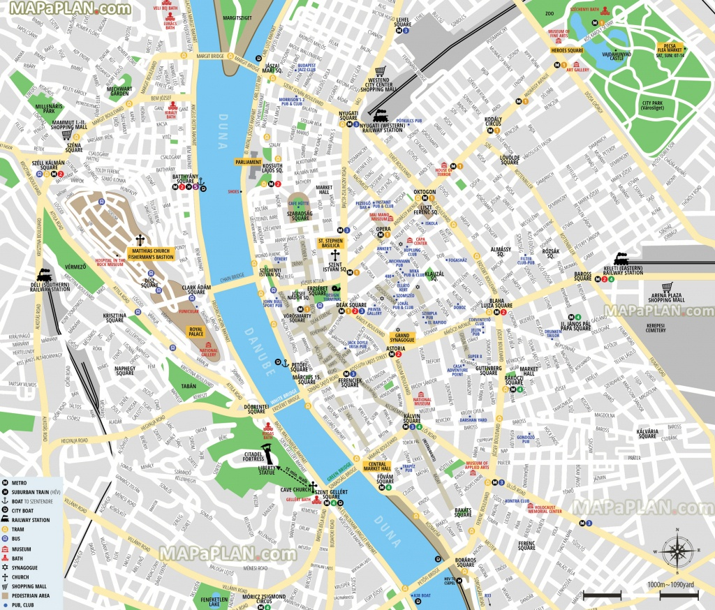 Budapest Maps - Top Tourist Attractions - Free, Printable City - Printable Map Of Budapest