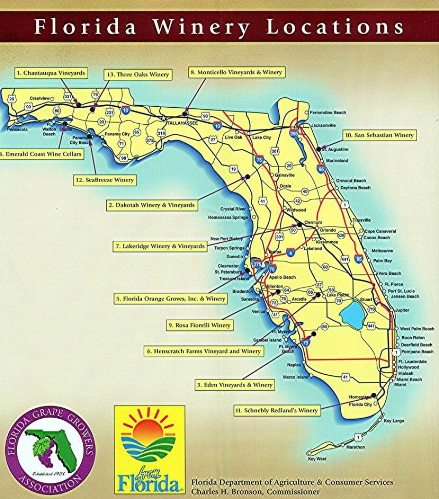 Bump & Run Chat | Vacation | Wine, Wine Country, Florida Travel - Florida Winery Map