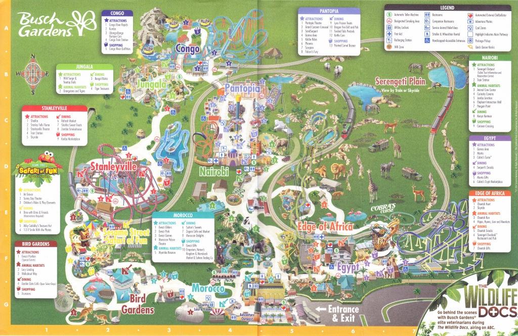 Busch Gardens Tampa - 2016 Park Map - Bush Garden Florida Map