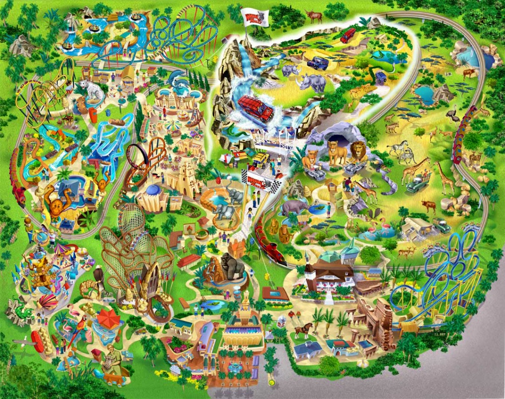 Bush Gardens - Markus Ansara - Bush Garden Florida Map