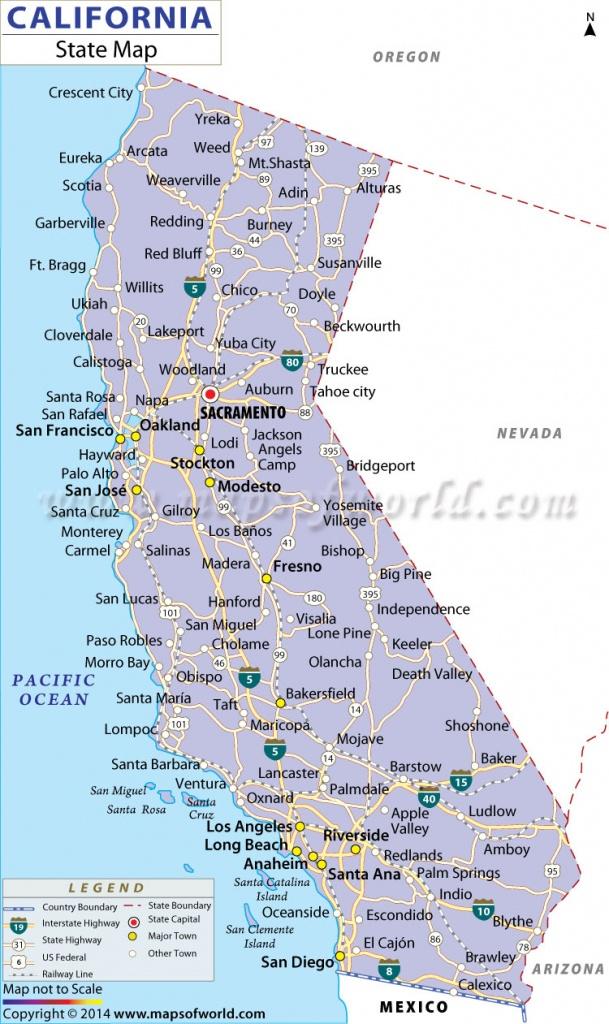 Buy California State Map - California State Map Pictures