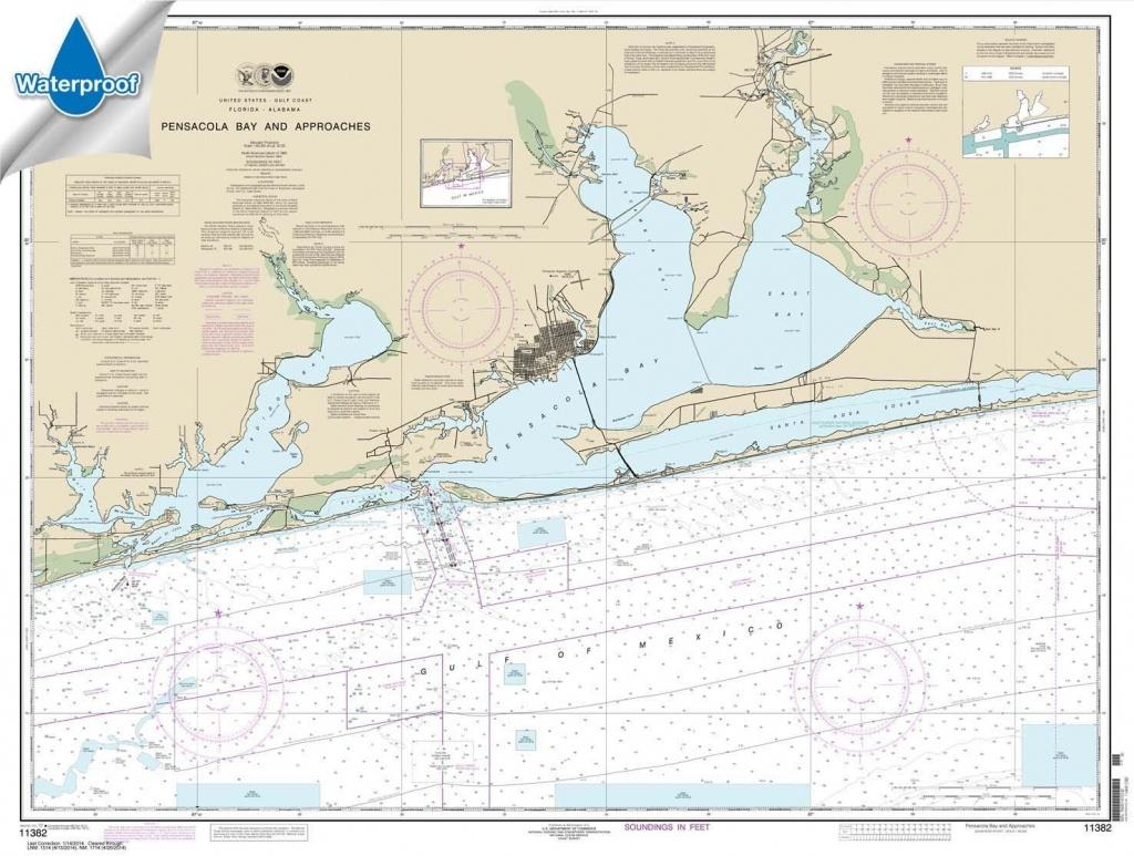 Buy Florida Sportsman Fishing Chart: Pensacola, Wynne Haven Beach To - Florida Sportsman Fishing Maps