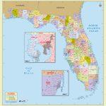 Buy Florida Zip Code With Counties Map   Florida Zip Code Map