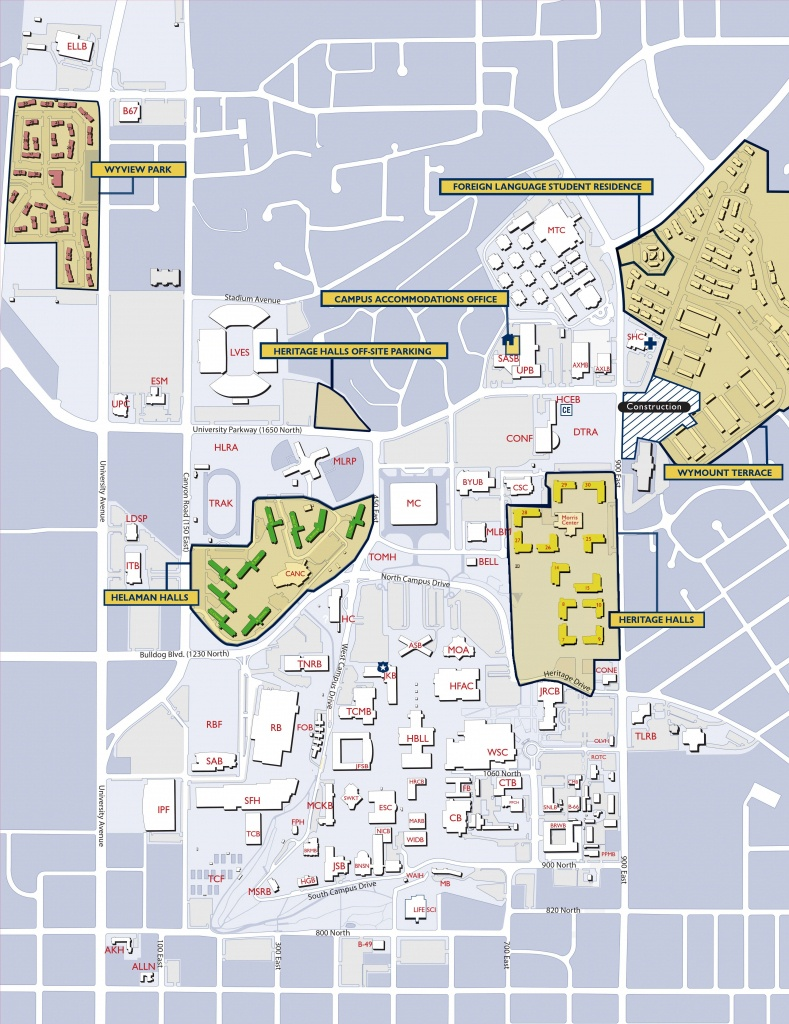 Byu Campus Map | Byu | Campus Map, College, Map - Byu Campus Map Printable