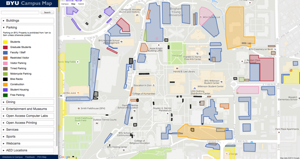 Byu Campus Map Pdf | Woestenhoeve - Byu Campus Map Printable