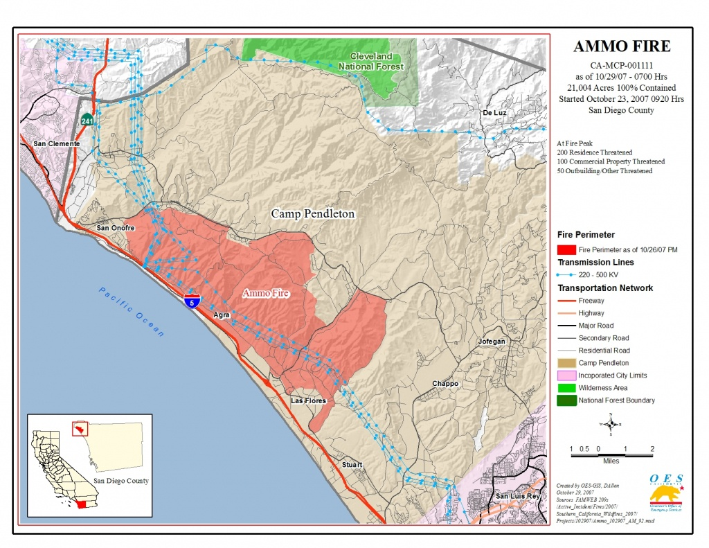 Ca Oes, Fire - Socal 2007 - Fires In Southern California Today Map