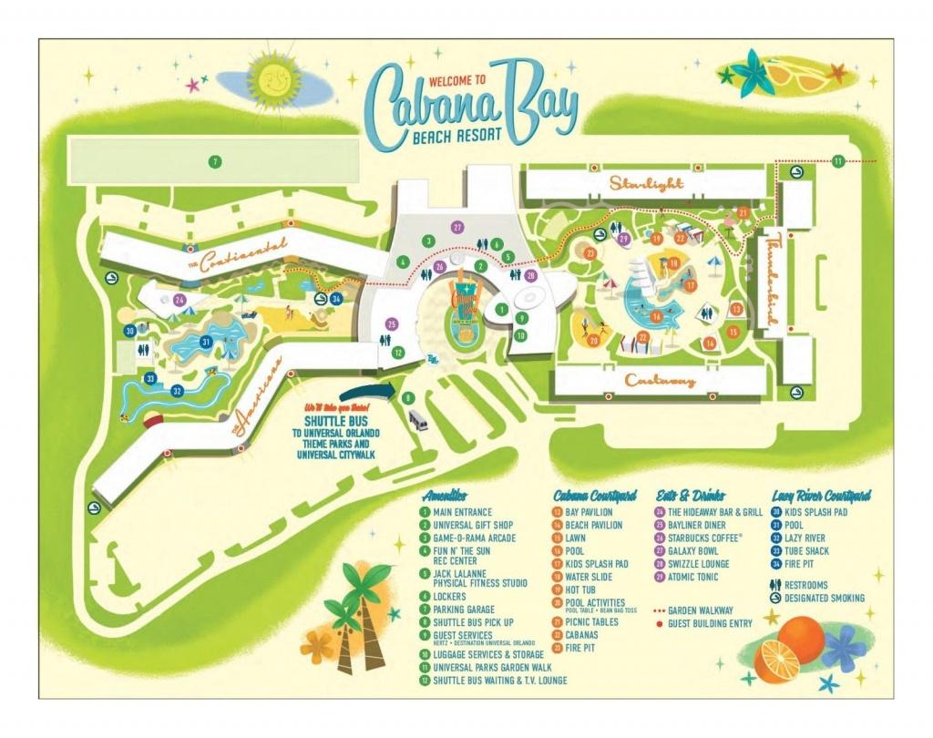Cabana Bay Beach Resort   Disney Cruise In 2019   Beach Resorts - Map Of Florida Beach Resorts