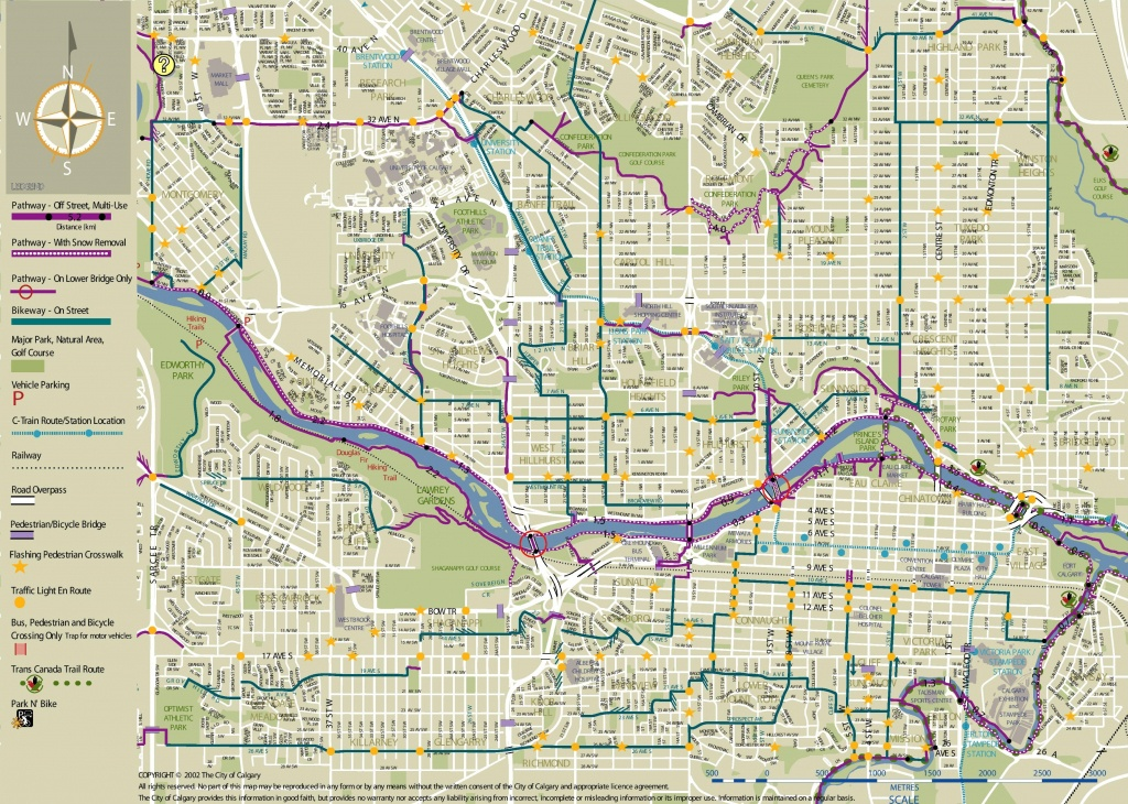 Calgary Cycling Map - Printable Map Of Calgary