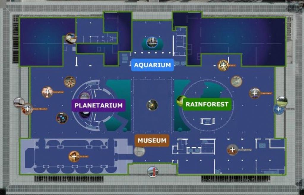 California Academy Of Sciences Exhibit Planner | Visual.ly - California Academy Of Sciences Map