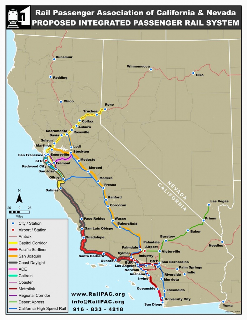 California Amtrak Stations Map | Secretmuseum - Amtrak California Map