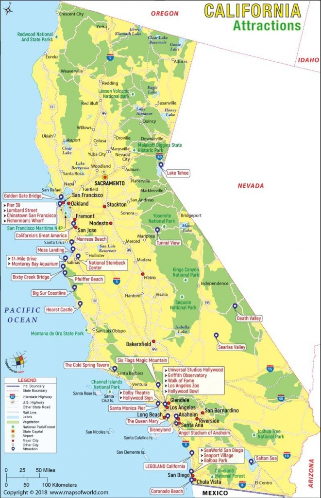 California Attractions Map | Travel In 2019 | California Attractions - Funner California Map