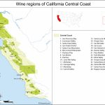 California Central Coast Map Of Vineyards Wine Regions   Central California Wineries Map