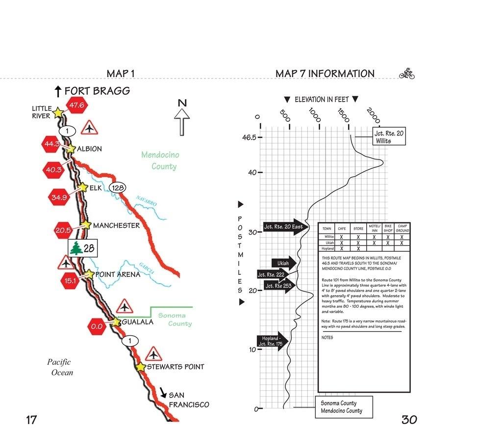 California Coast Bike Route Map – Map Of Usa District - Pacific Coast Bike Route Map California