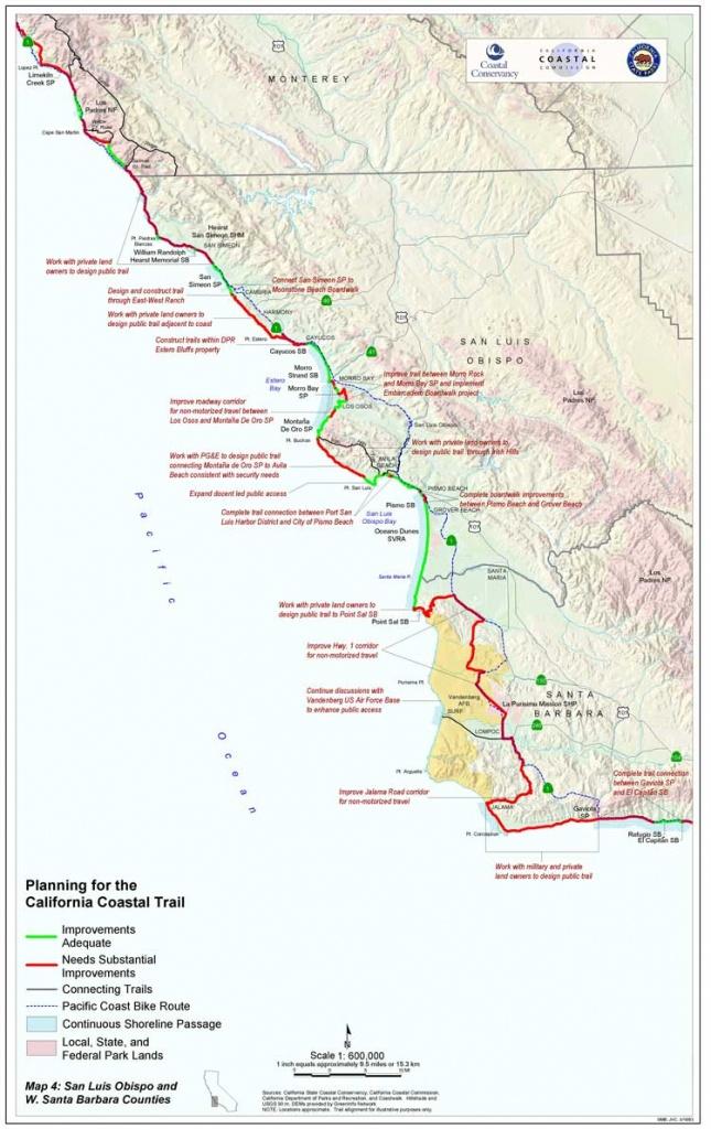 California Coastal Trail - Fast Track Map California