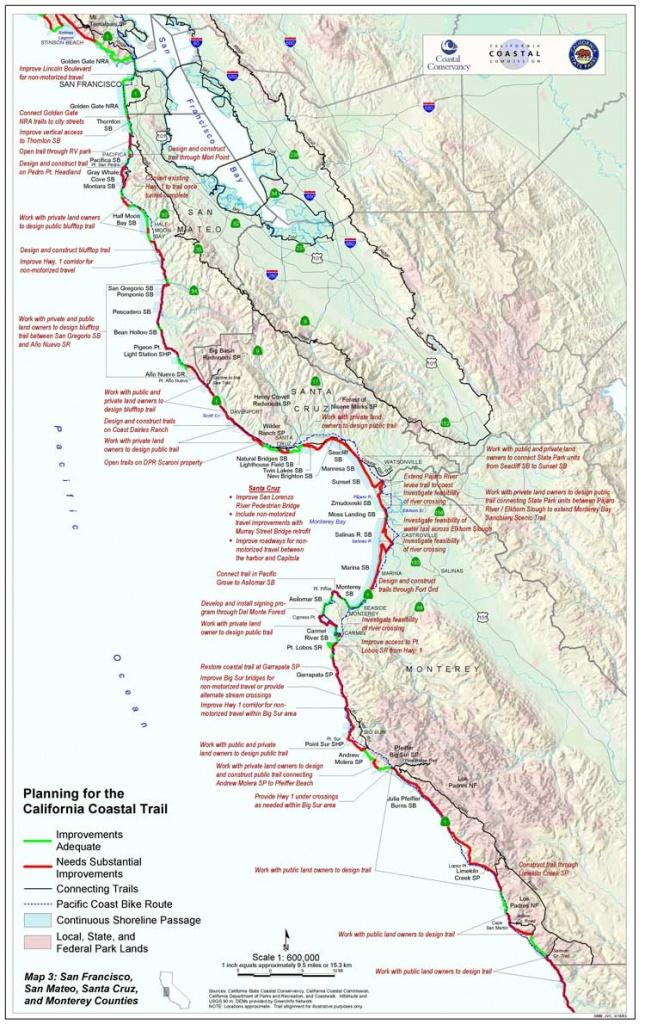 California Coastal Trail - Pacific Coast Bike Route Map California