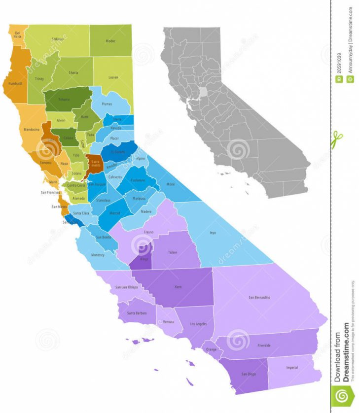 Free Editable Map Of California Counties