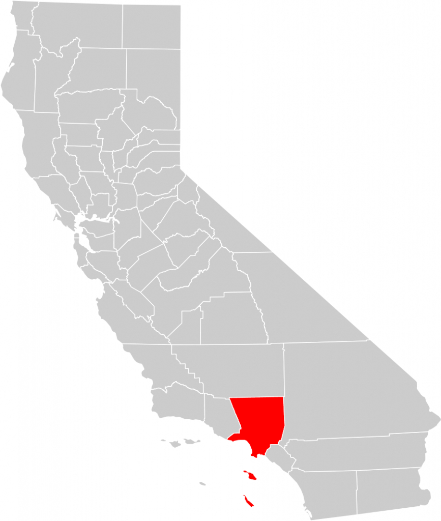 California County Map (Los Angeles County Highlighted) • Mapsof - Los Angeles California Map