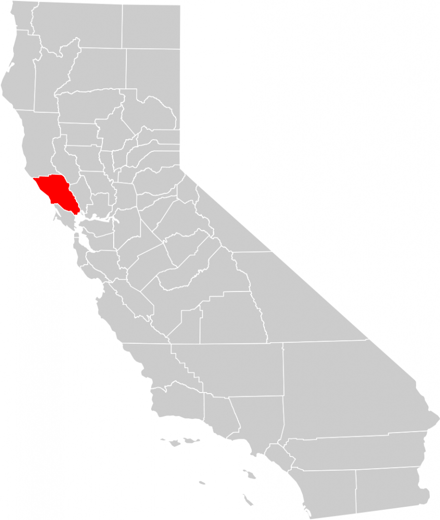 California County Map (Sonoma County Highlighted) • Mapsof - Sonoma County California Map