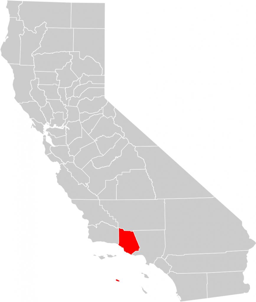 California County Map (Ventura County Highlighted) • Mapsof - Ventura California Map