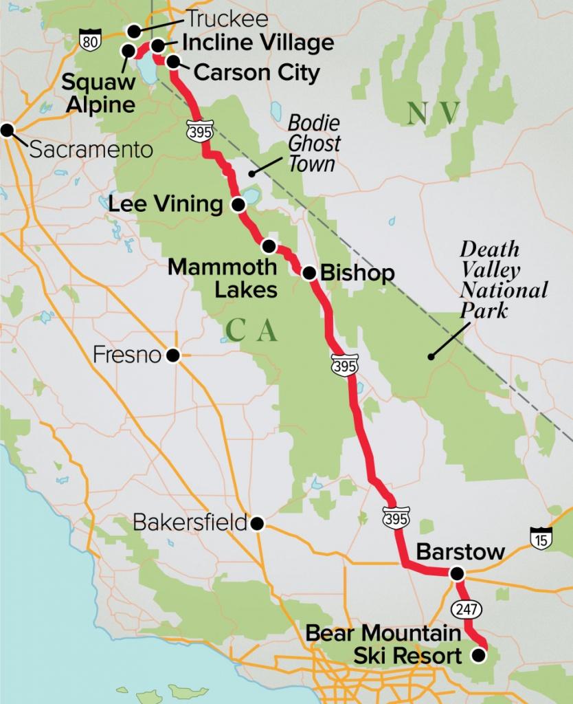 California Cruisin'- Winter's Best Road Trips 2019 - Ski Mag - Best California Road Map