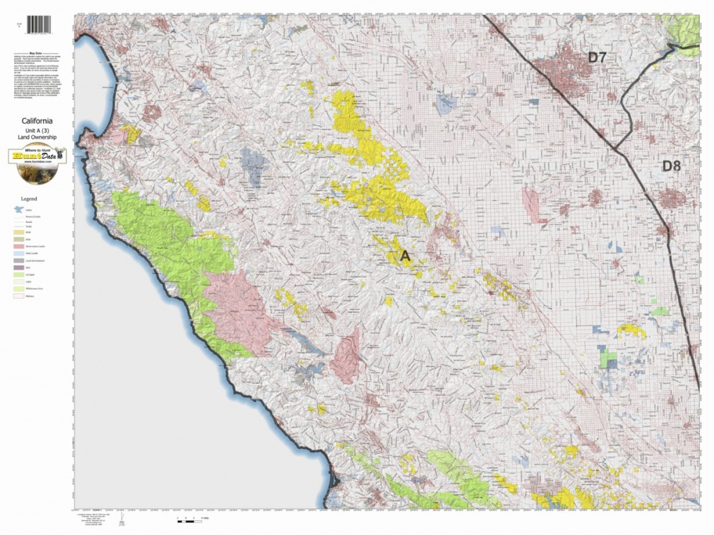 California Deer Hunting Zone A(3) Map - Huntdata Llc - Avenza Maps - California Land Ownership Map