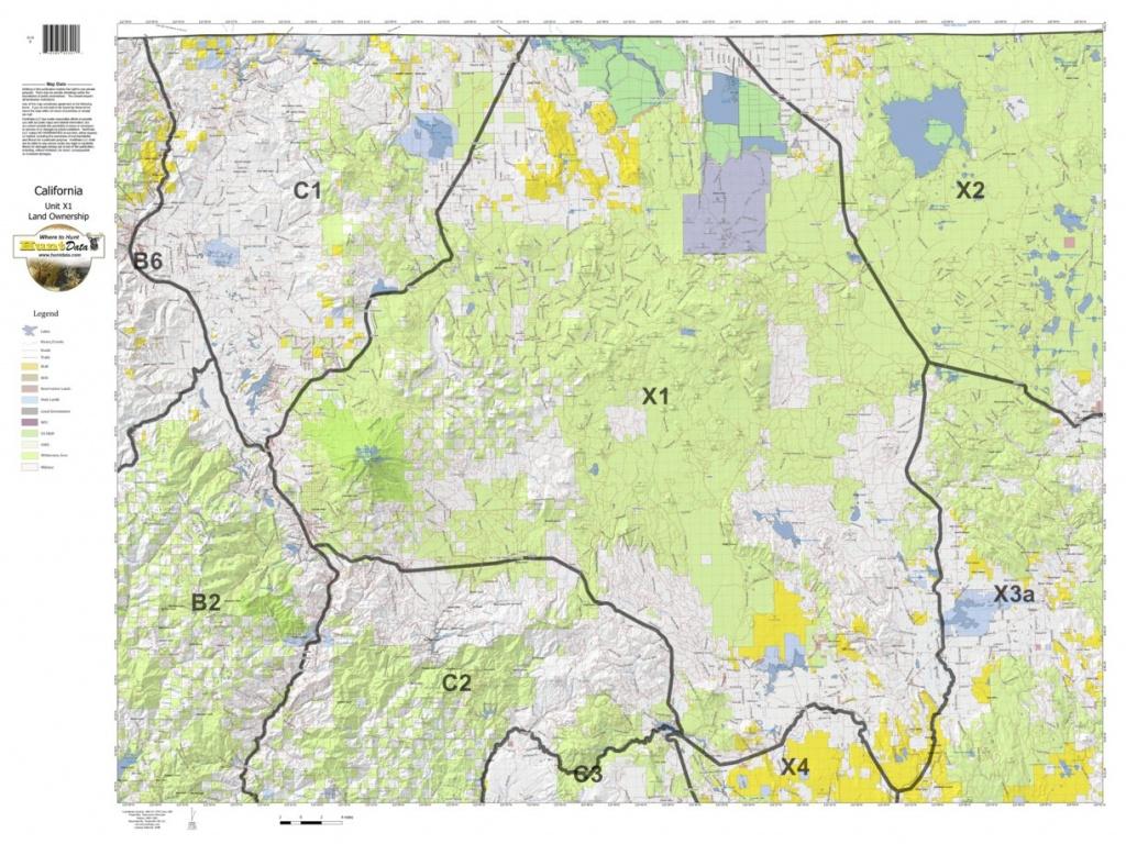 California Deer Hunting Zone X1 Map - Huntdata Llc - Avenza Maps - Deer Hunting Zones In California Maps