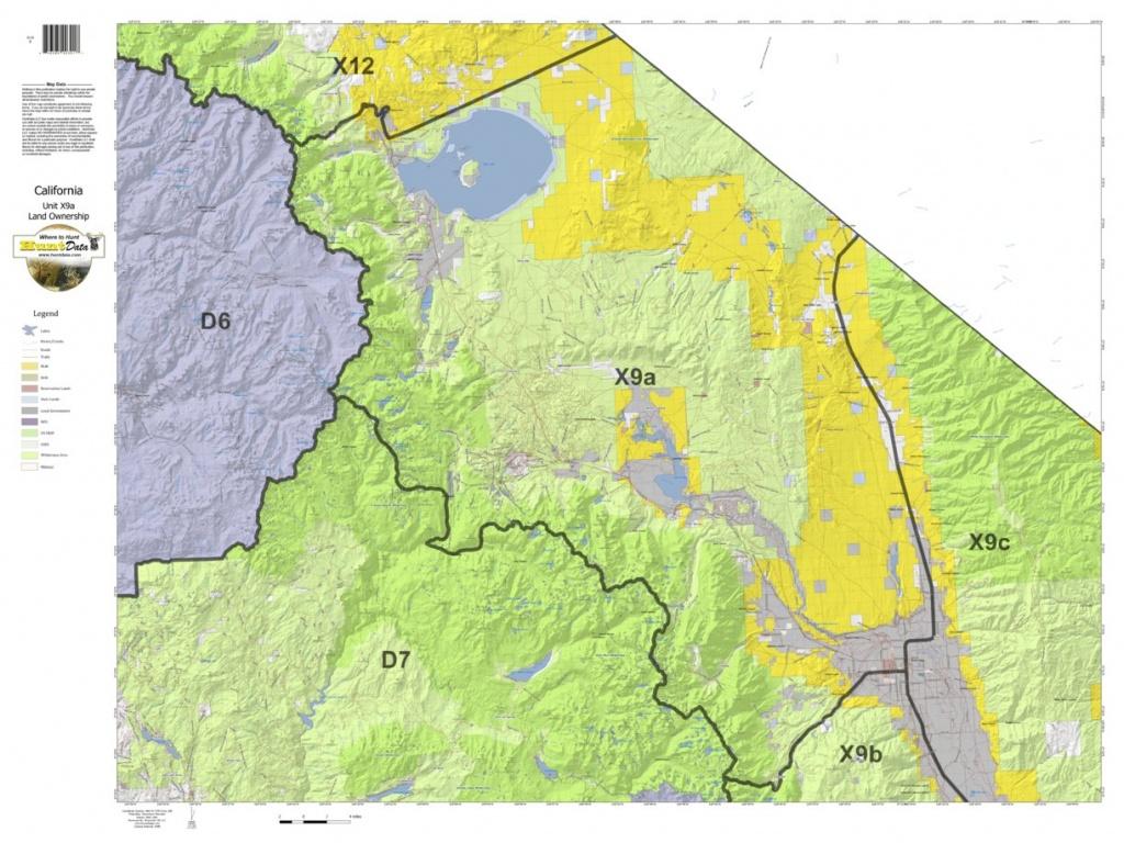 California Deer Hunting Zone X9A Map - Huntdata Llc - Avenza Maps - California B Zone Deer Hunting Map