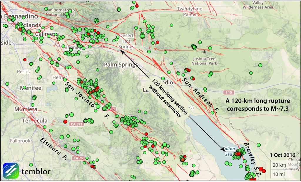 California Earthquake Advisory Ends Without Further Rumbling - Map Of The San Andreas Fault In Southern California