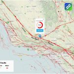 California Earthquake Faults Map Graph Fault Lines Map Map Canada   California Fault Lines Map