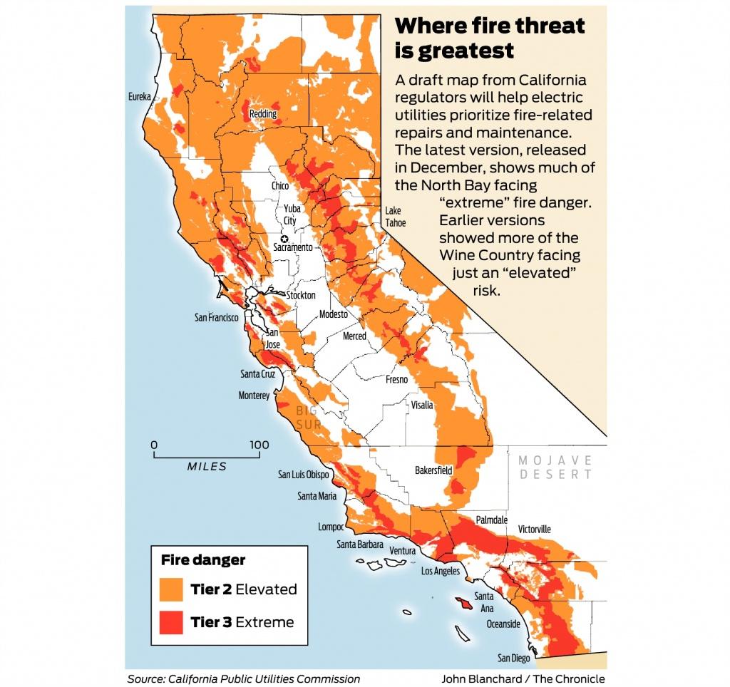 California Fire-Threat Map Not Quite Done But Close, Regulators Say - California Electric Utility Map
