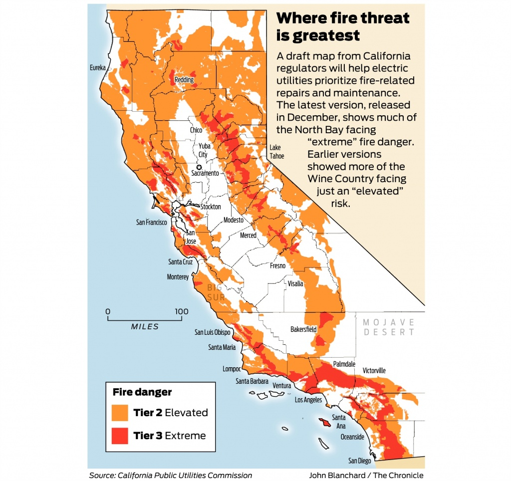 California Fire-Threat Map Not Quite Done But Close, Regulators Say - California Forest Fire Map