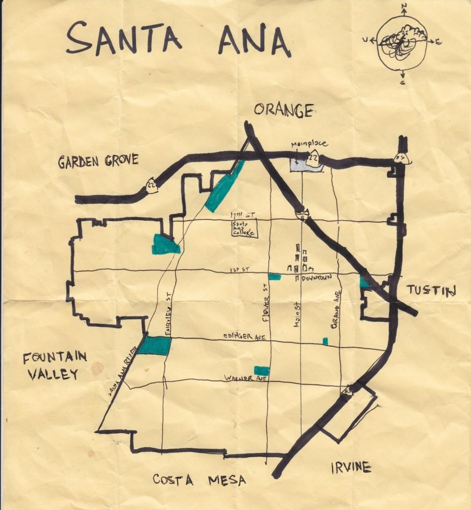 California Fool's Gold — Exploring Santa Ana, Downtown Orange For - Santa Ana California Map