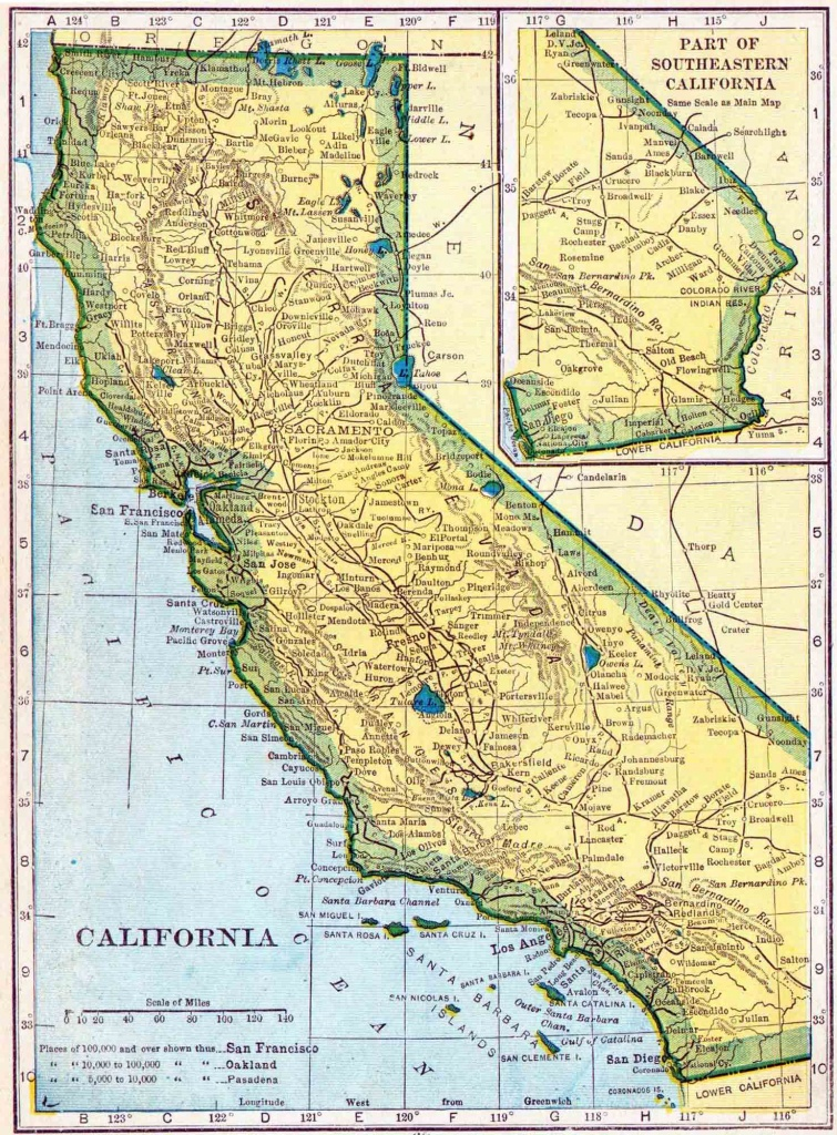 California Genealogy - Free California Genealogy | Access Genealogy - California Township And Range Map