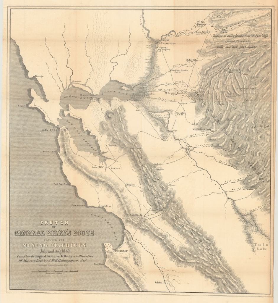 California Gold Rush Map - Philadelphia Print Shop West - California Gold Rush Map