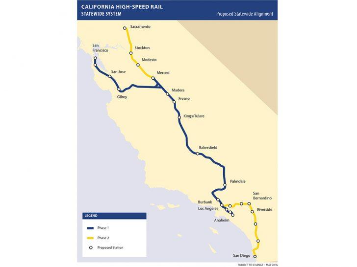 California High Speed Rail Map