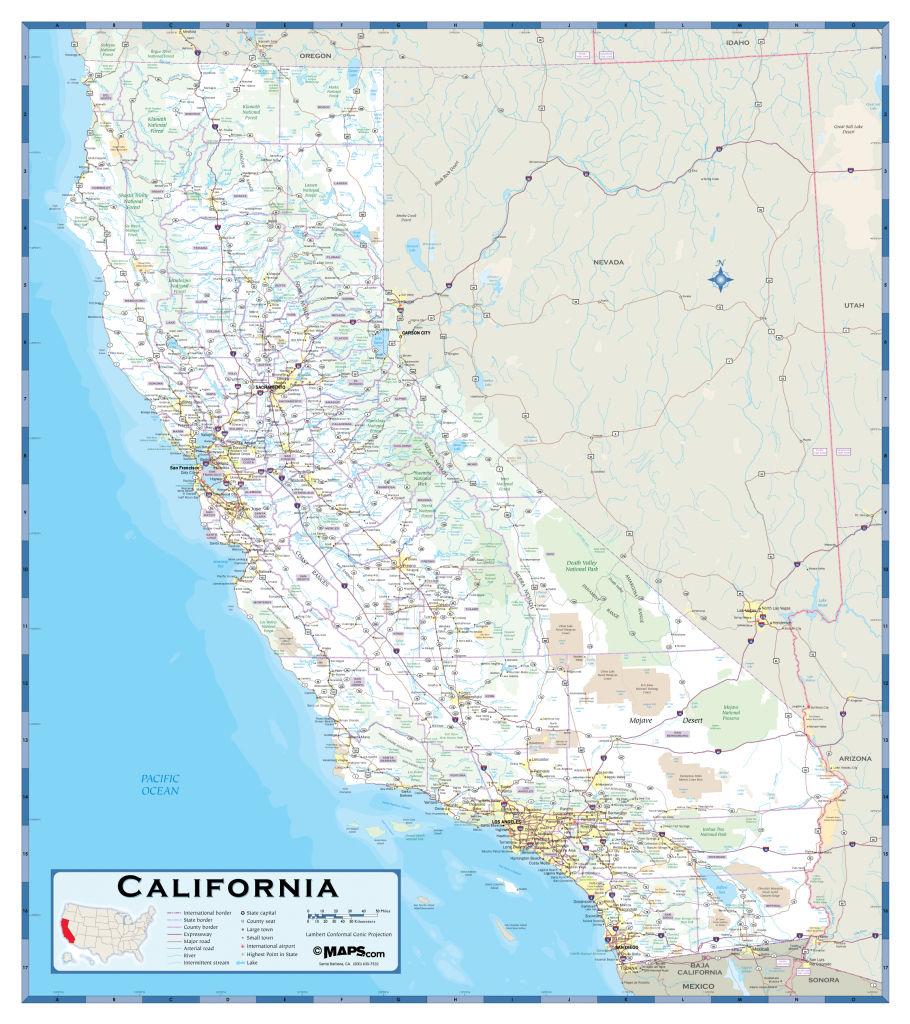 California Highway Wall Map - Maps - California Wall Map