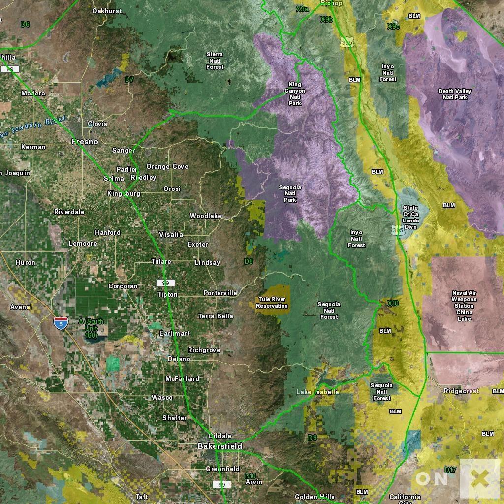 California Hunt Zone D8 Deer - California Hunting Zone Map
