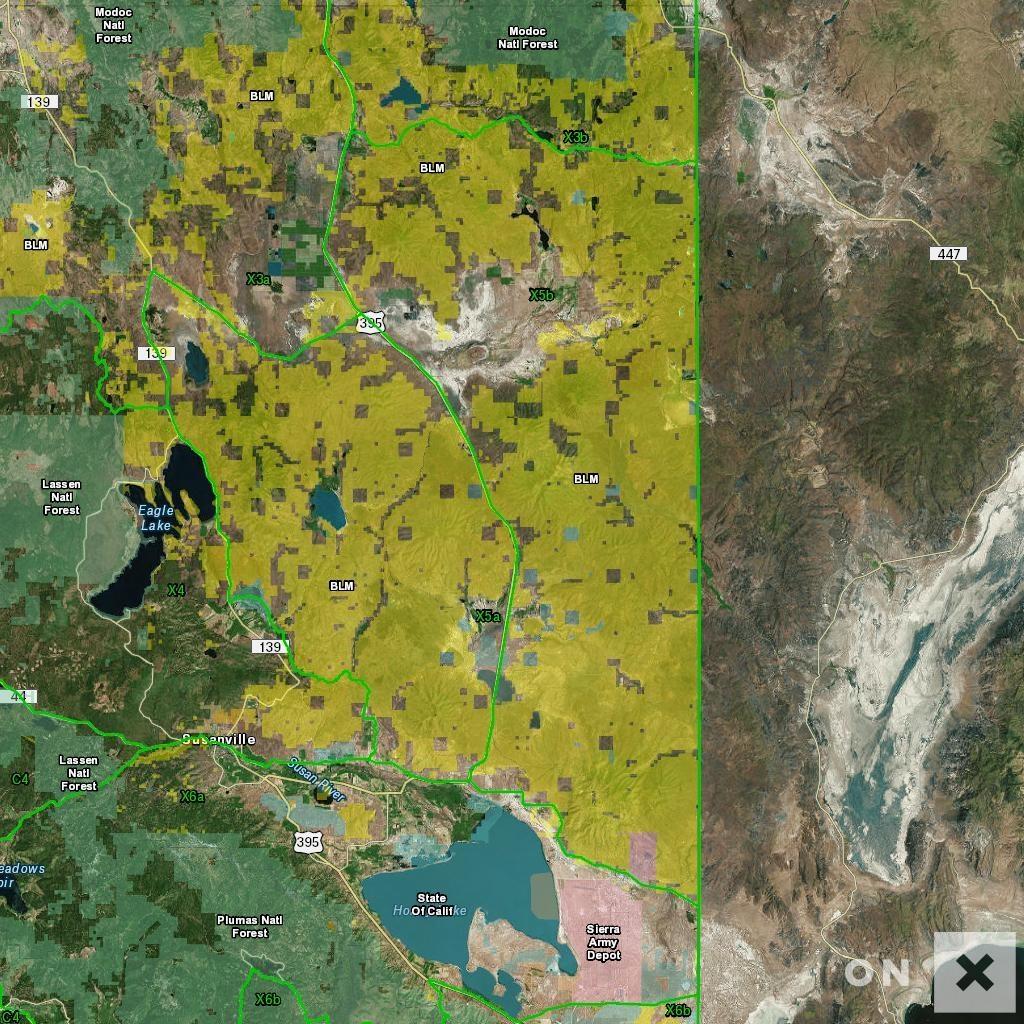 California Hunt Zone X5B Deer - California B Zone Deer Hunting Map